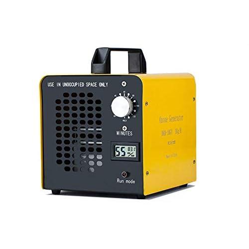 Yousiliang Generatore di ozono Commerciale, purificatore d'Aria, 10.000 MG/Ora, ionizzatore Home per Stanza, Fumo, Auto e Animali Domestici - Giallo