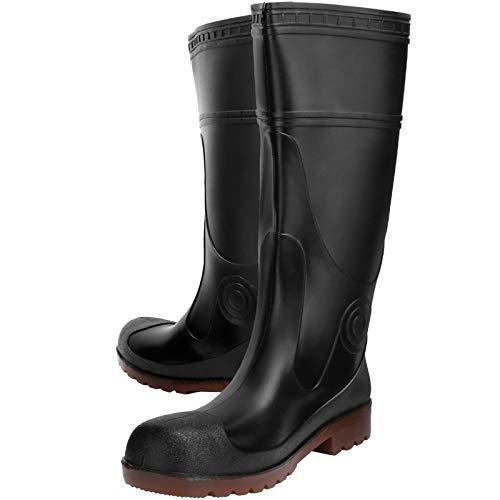Fybida Zapatos engrosados Cabeza Seca y cómoda Evita resbalones Zapatos Altos Zapatos Impermeables para la Lluvia Botas Antideslizantes Bota de Lluvia de PVC Negro, para(Black, 41)