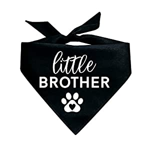 Little Brother with Heart Paw Printed Dog Bandana (Assorted Colors)