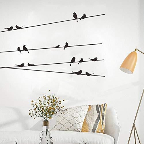 Axlgw stijlvolle retro tak vogel kooi muur Sticker verwijderbare woonkamer Decal muurschildering woonkamer raam kinderen slaapkamer