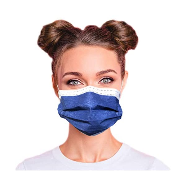 3-Ply Breathable Colored Disposable Face Mask with Comfortable Elastic Ear Loop