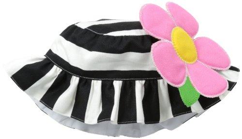 Mud Pie Sonnenhut für Neugeborene, mit Blume - Schwarz - Einheitsgröße