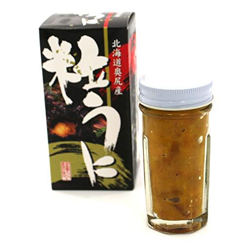 塩うに 瓶詰め 北海道 奥尻産 粒うに 60g ウニと食塩だけで造りました 甘口の ウニ 無添加 つぶうに 瓶 うに 冷凍 お歳暮ギフト クリスマスギフト