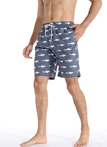 APTRO Men's Long Swim Trunks with Mesh Lining Beach Bathing Suits Board Shorts Swimwear with Pockets and No Mesh