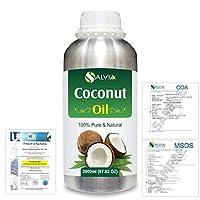 Coconut (Cocos nucifera) Natural Pure Undiluted Uncut Carrier Oil 2000ml/67 fl.oz.
