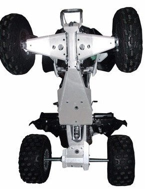 Kawasaki KFX450 Aluminum 4 Piece Skid Plate Set by Ricochet For 2008, 2009, 2010, 2011, 2012, 2013, 2014, 2015, 2016