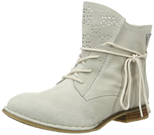 bugatti Damen J4931PR3 Kurzschaft Stiefel, Weiß (Offwhite 210), 38 EU