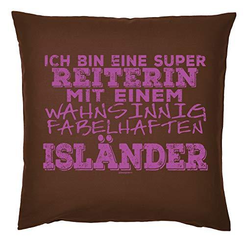 Mega-shirt met paardenmotief, cool kussen, bekleding met vulling IJsland paard voor de ruiter cadeau voor paardenvrienden