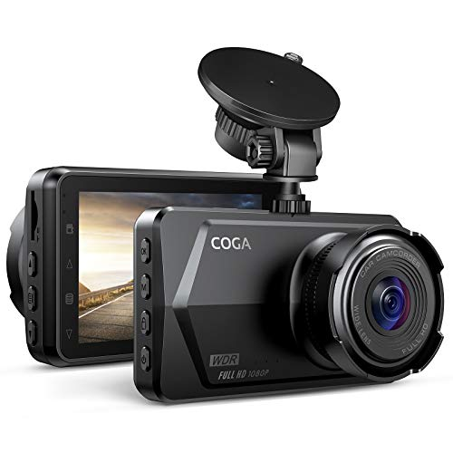 Dash Cam 1080P | COGA 2021 New | Sony Sensor | WDR & Super Night Vision | 3-Inch LCD Display | 170° Wide Angle, G-Sensor, Parking Guard, Loop Recording, Motion Detection