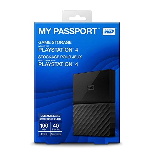 WD 4TB My Passport Portable Gaming Storage External Hard Drive - USB 3.0 - WDBZGE0040BBK-NESN