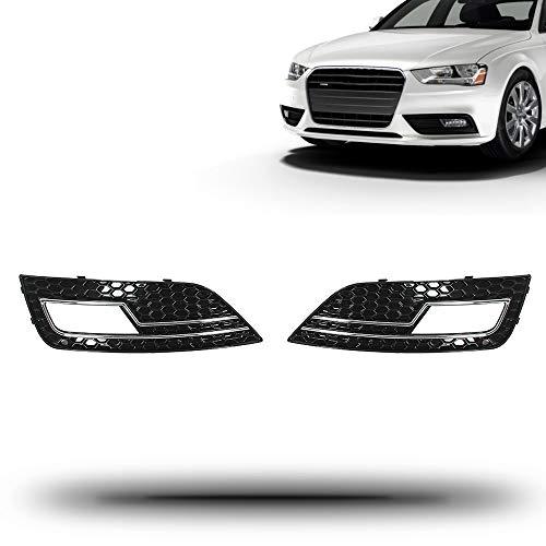 AntsGroup For 2013-16 Audi A4 S-Line S4 RS4 R Front Bumper Lower Fog Light Cover Bezel Set2013-2016 Audi S4 V6 3.0L&2013-2016 Audi A4 L4 2.0L&2013-2016 Audi A4 L4 1.8L