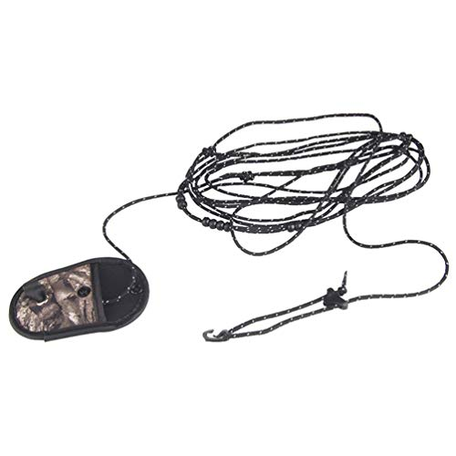Cuerda de secado de nailon portátil para viaje, camping, color negro