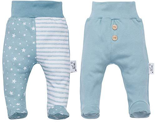 Makoma Baby Hose Strampelhose mit Fuß 2er Set 100% Baumwolle Mädchen und Junge Sweet Dreams (56)