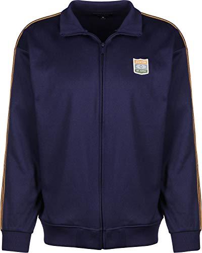 BRIXTON Herren United Mock Neck Zip Trainingsjacke, Patriot Blau, L