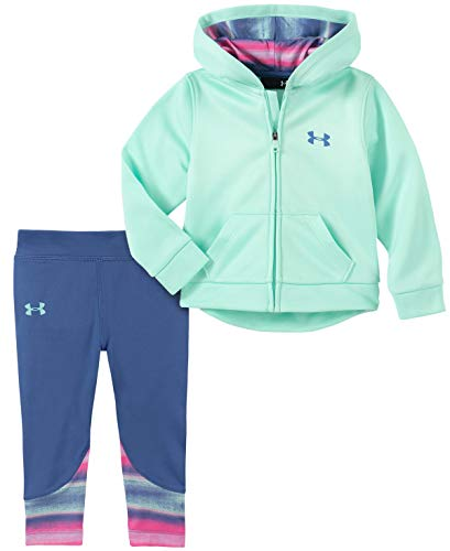 Under Armour Baby Girls Active Hoodie and Legging Set, Crystal f19, 18M