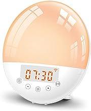 Baugger Tuya Wi-Fi Despertador Inteligente Despertador Inteligente LED 7 Cores Ajustáveis em Casa Inteligente Cama Sala de...