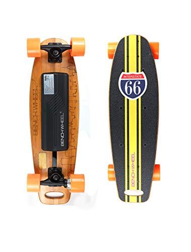 Benchwheel F1 Monopatín Eléctrico Skateboard Eléctrico,Control Remoto, Luz de color LED,Velocidad Máx 20 km/h,para Adulto Adolescente
