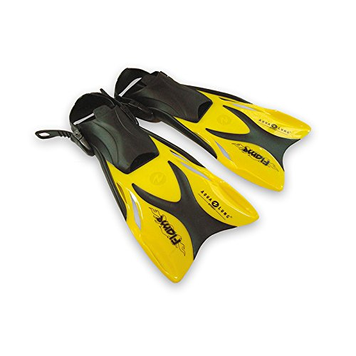 Aqua Lung Schwimmflossen/Schnorchelflossen Flame Junior für Kinder, Sport Large/X-Large gelb