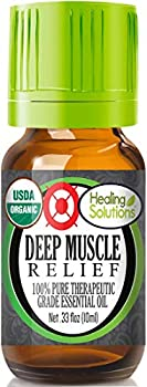 Organic Deep Muscle Relief Blend Essential Oil  100% Pure - USDA Certified Organic