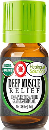 Organic Deep Muscle Relief Blend Essential Oil (100% Pure - USDA Certified Organic)
