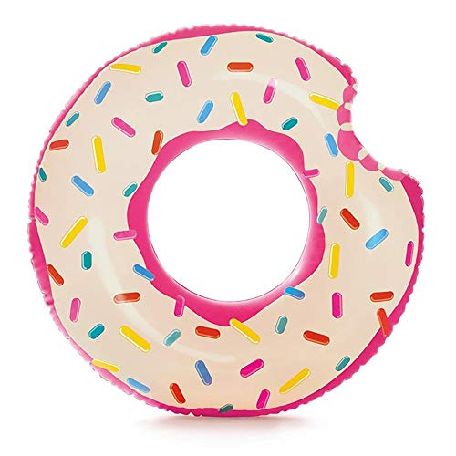 XMH Aufblasbarer Donut Tube Pool Float, Lustiger Riesiger Aufblasbarer Schwimmring, Schwimmschwimmer Für Erwachsene Und Kinder Pool Ring Float, Donut Swim Ring Sommer Wasserspielzeug,107 * 99cm