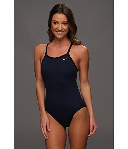 Nike Poly Core Solid Women's Swimsuit Size 38 (Midnight Navy)
