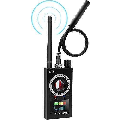 Detector Anti Espías, UYIKOO Detector de Señal RF, Buscador de Cámara Detector de Errores Detector de Frecuencia Radio Escáner para el Dispositivo gsm Rastreador GPS de Coches