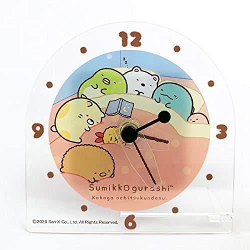 すみっコぐらし アクリルクロック おやすみ すみっコぐらし 時計 アナログ時計 キャラ時計 すみっこぐらし ピンク