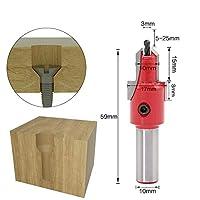 YASE-king 高品質 1PCS 10ミリメートルシャンクHSS木工皿穴ルータは、木材フライス用セットスクリュー抽出のRemon解体をビット
