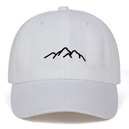 UKKD Gorra De Béisbol Cordillera De Montaña Bordado para Hombre Gorras De Béisbol para Mujer Snapback Ajustable Moda Papá Hats Bone Garros