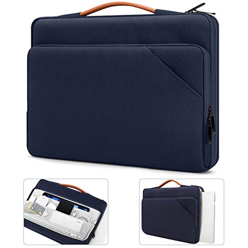 TiMOVO 13.3 Inch Laptop Tablet Sleeve Case with Handle Compatible with iPad Pro 12.9 2020/2021, MacBook Air 13 Inch, MacBook Pro 13', Galaxy Tab S7+, Surface Pro X/7/6/5/4/3, Indigo
