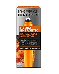 L'Oreal Paris Men Expert Hydra Energetic Roll-On Ojos Anti-Bolsas + Anti-Ojeras con 2 Vitaminas - 10 ml