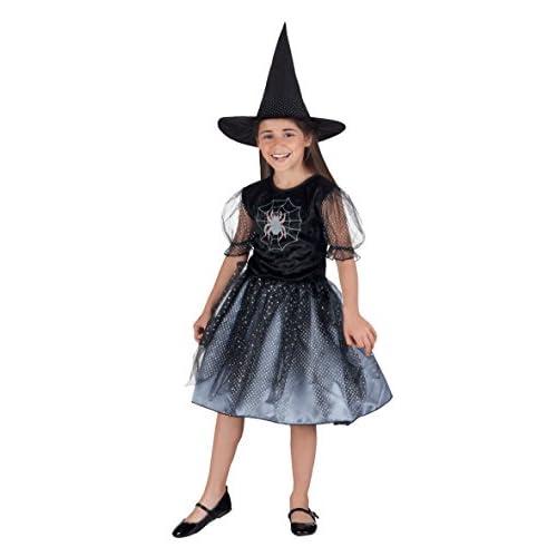 Boland- Costume Bambina Streghetta Spider Witch, Nero, 10-12 anni, 78020