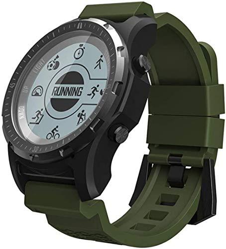Fitness Tracker Smart Watch con cardiofrequenzimetro, contapassi, cronometro, schermo Full Touch, militare, impermeabile, sportivo, arancione, verde