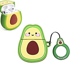 Case Fit for AirPods [1st and 2nd Gen], 3D Cartoon Airpods Case, Cute Silicone AirPods Cover, Airpods Shockproof Protective Charging Case,[Funny Design] Best Gift for Girls Boys Teens Women, Avocado