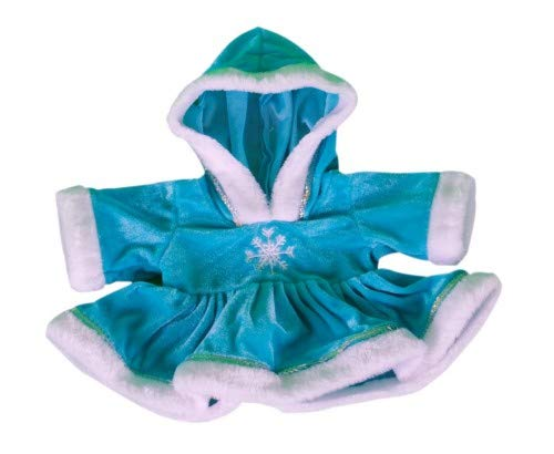 Blue Winter Snowflake Dress Outfit fits 15-16 inch (40cm) Teddies & Build a Bear