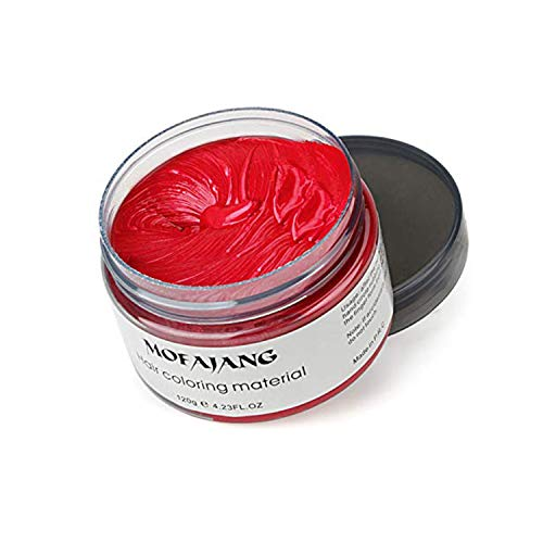 Coloración del cabello Cera Desechable Peinado mate instantáneo Crema de barro Pomadas para el cabello para niños Hombres Mujeres Cosplay Cosplay Discoteca Mascarada Transformación (Rojo)