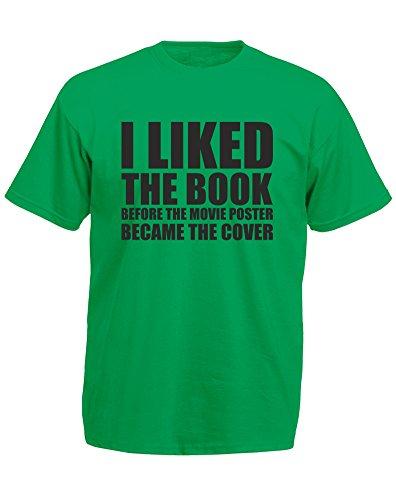 Book Before The Movie Poster, playera estampada para hombre, verde Kelly/negro M