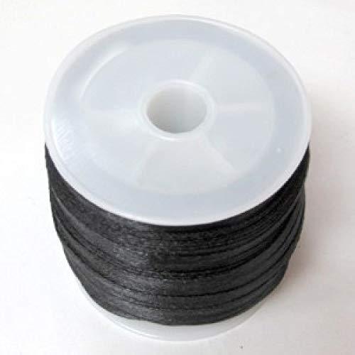 Angel Malone ® BLACK 10 Mtrs. X 2mm Premium Quality Kumihimo Rattail Satin Cord