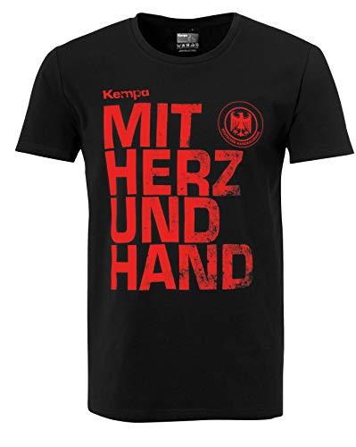 Kempa med hjärta och hand Tyskland DHB världsmästare i hjärtat WM 2019 t-shirt svart XX-L