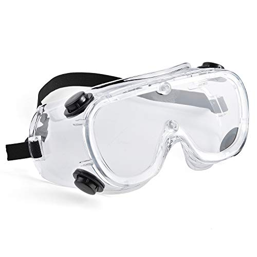 Safeyear Anti Fog Safety Goggles - SG0032 Scratch Resistant & UV Protection Safety Glasses for Men, Eye Impacted Sealed Protective Work Goggles Over Spectacles for DIY, Lab, Welding, Grinding, Cycling