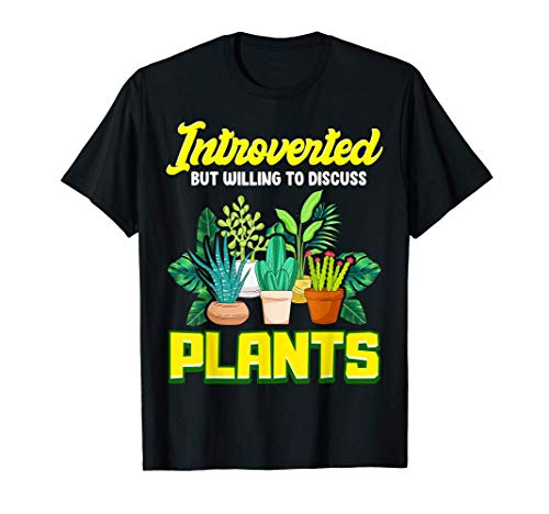 Introverted But Willing To Discuss Plants Cute Succulent Camiseta