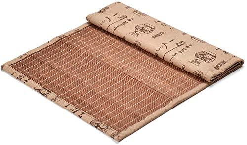 WGFGXQ Corredor de Mesa Ceremonia de bambú Corredor de la Tabla de té, té de bambú Natural de la Estera, con Aislamiento térmico Cortina, Mesa de Comedor for el Uso Diario Manteles (Size : 49.5×30cm)