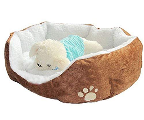 Westeng 1 Stück Ultra-weiche Baumwolle Welpen Nest Katzenbett, Kleine Haustierbett Teddy Kennel waschbar,50 x 40 x 15 cm - 4