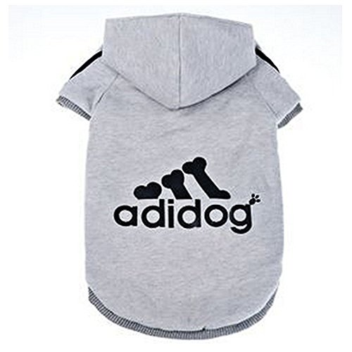 """Felpa con cappuccio per cani di taglia grande con scritta in lingua inglese: """"adidog"""", abbigliamento sportivo per animali domestici"""