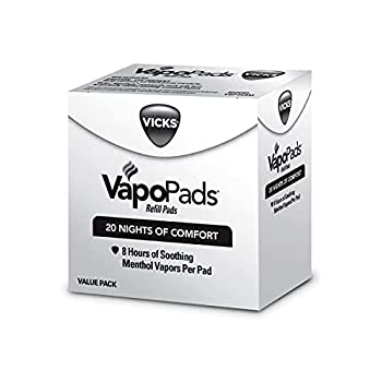 Vicks VapoPads Original Menthol Scent 20 Count Menthol Scented Vapor Pad Refills Vicks VapoPads Aromatic Pads Help Open Sinuses for Use in Hot Steam Vaporizers and Humidifiers