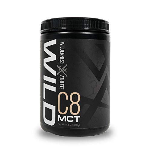 Wilderness Athlete: Wild C8 MCT, Clean Energy and Fat Burning Powder Mix, 30 Serving Tub, Elevated Mental Clarity, Sustainable Energy, Improved Appetite Control