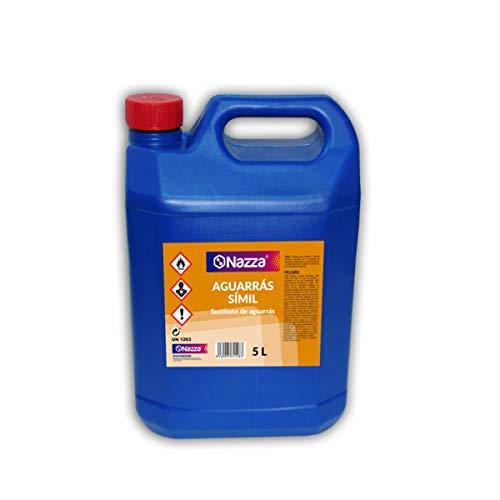 Aguarrás Símil Nazza | Disolvente adecuado para pinturas al óleo | Diluyente para barnices y pinturas sintéticas | Envase de Plástico de 5 Litros