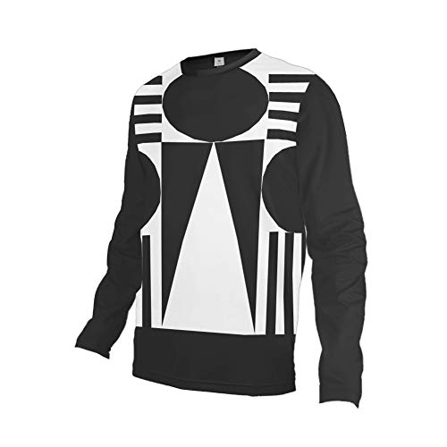 Uglyfrog Camisetas Hombre Manga Larga MTB Downhill Jersey Mountain Bike Ropa, Motocicleta Jersey Mountain Mountain Paño Grueso y Suave de Invierno Shirt ES19HSJFMZR10