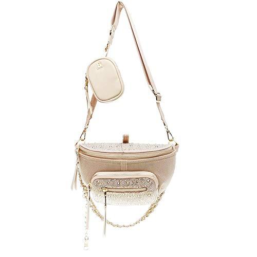 Steve Madden Maxima Covertible Belt Bag Crossbody, Blush Multi